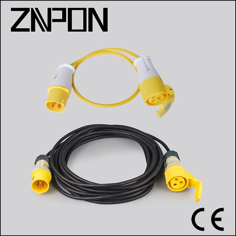 SINGLE PHASE 16A 110V 10M H05VV-F 3*2.5mm cable box power cord