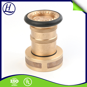 Hot Sale NBR Sealing Fire Fighting Equipment Spray Brass Nozzle