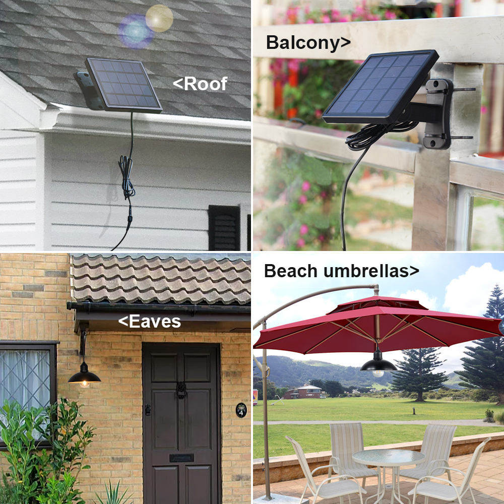 solar lamp farm garden Home Decor & Kitchen LED Light Lamp Bulb Waterproof Solar Rotatable Outdoor Garden Camping Night Lamp