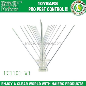 Haierc Invisible Polycarbonate Line Bird Barrier Stainless Steel Spikes  Garden Ornaments Factory Price - Buy Invisible Polycarbonate Line Bird  Barrier