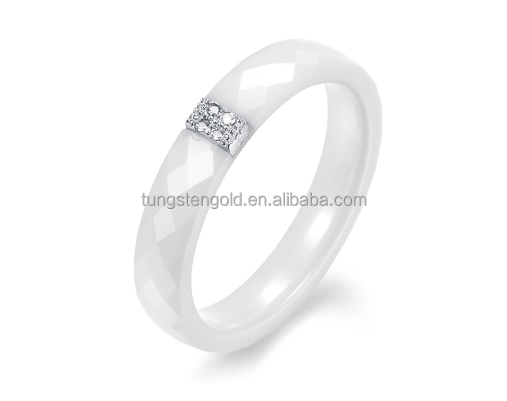 fashion ceramic jewelry faceted men women white ceramic rings zirconia high tech ceramic diamond - Ceramic Wedding Rings