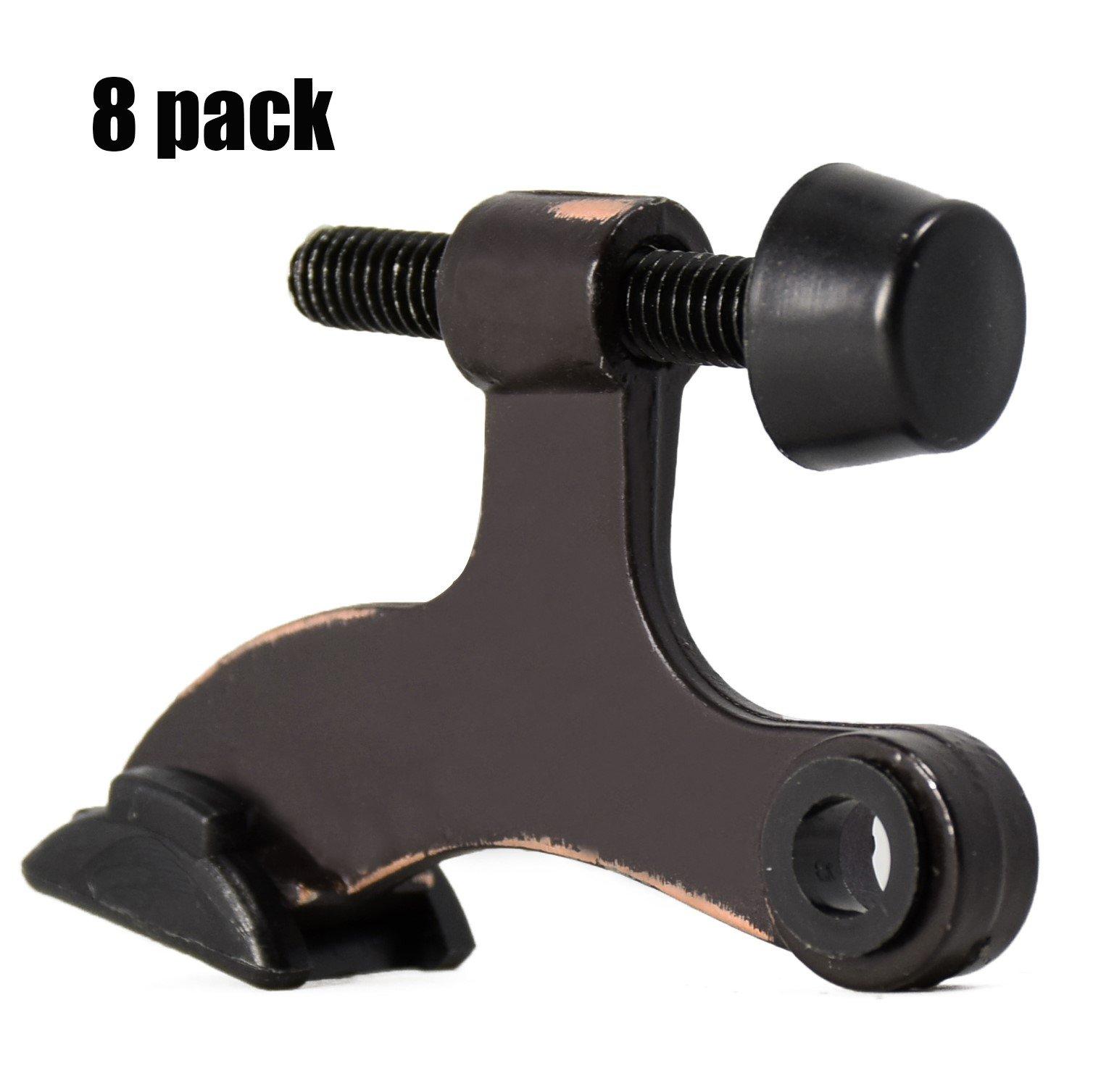 8 Pack Hinge Pin Oil Rubbed Bronze Door Stopper,Adjustable Deluxe Heavy  Duty Door Stopper