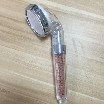 bathroom accessories shower head filter with mineral stone