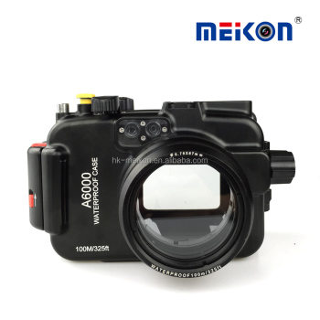 100m aluminum diving meikon underwater housing for Sony A6000