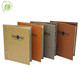 Fashion A4 PU wood leather restaurant menu cover