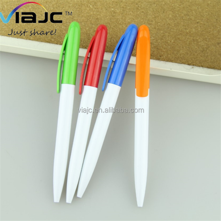 Bulk high quality cheap price promotional ball pen with large clip twist action