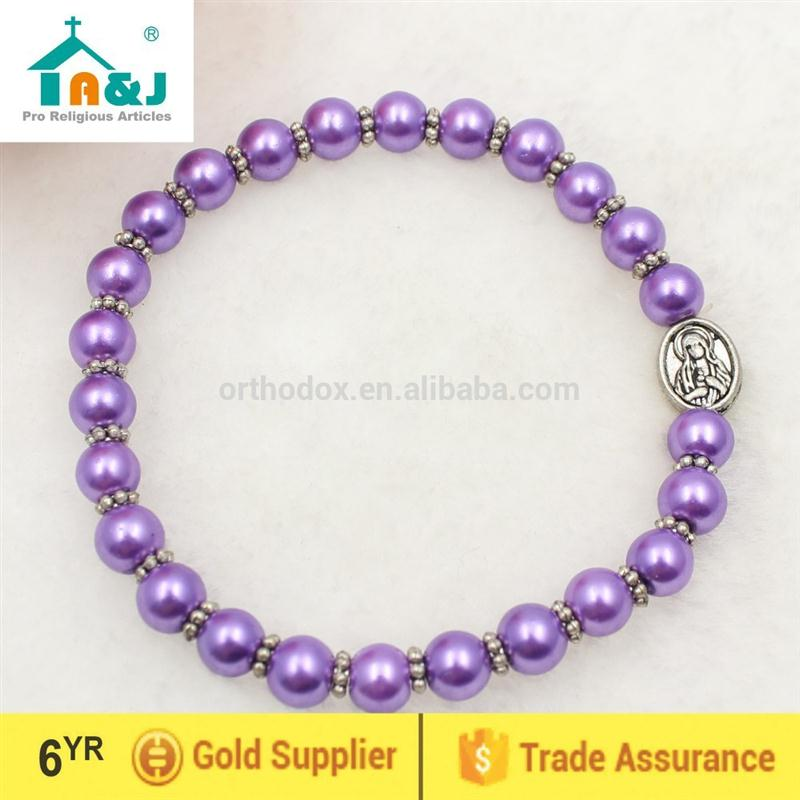 Passed SGS Test catholic bracelet plastic beads Sell well item