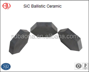 Ballistic Tactical Ceramic SSIC Tiles For Military Armored Cars Strike Face Panels