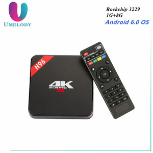 H96 Smart Android 5.1 TV Box Amlogic S905 Quad Core 64Bits Set Top Box 1GB 8GB 2.4GHz WiFi 4K H.265 1080P Media Player