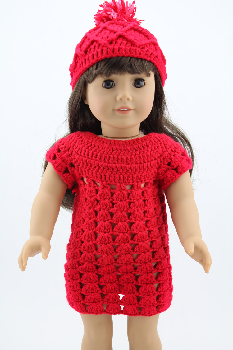 Handmade Dress Hat Fits 18 Inch American Girl Doll Fashion Knitwear Dolls Accessories