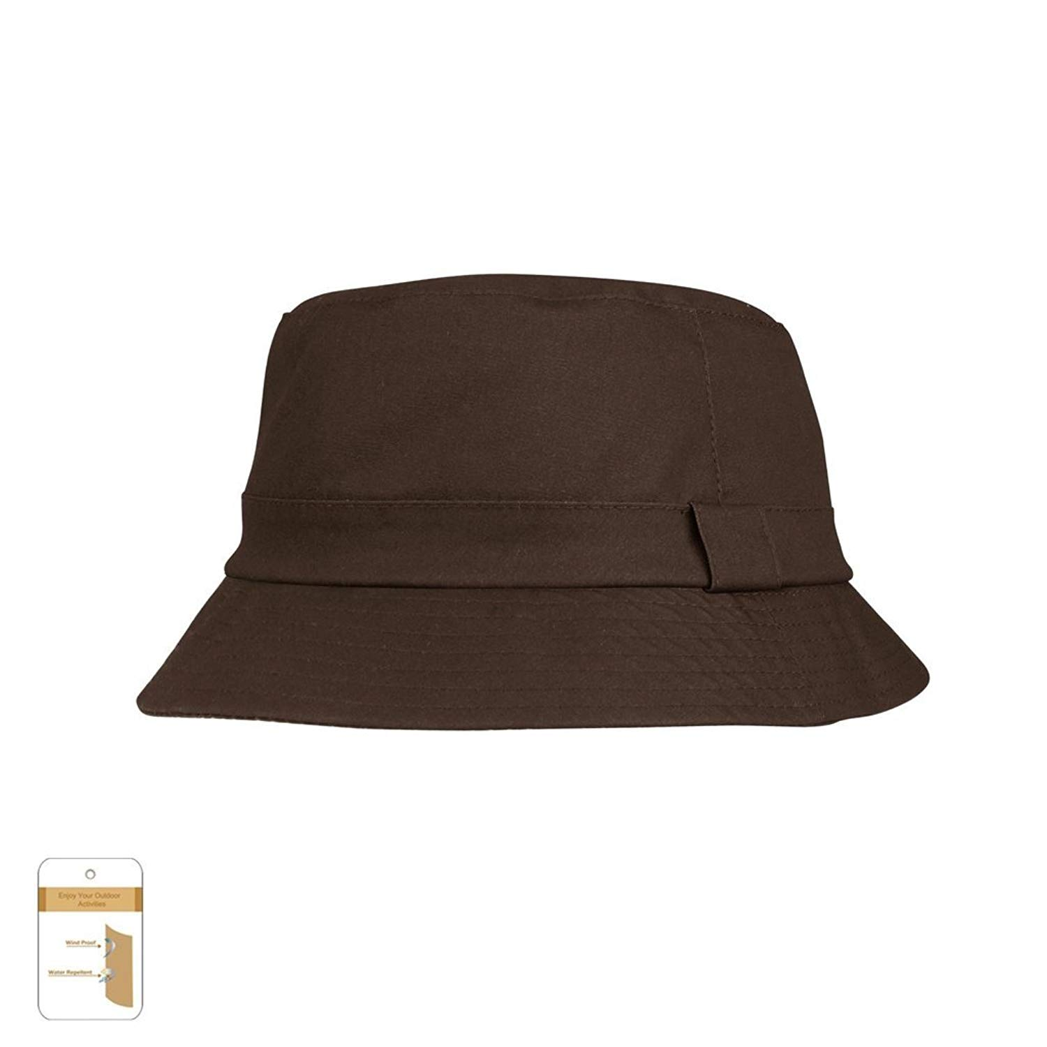 Get Quotations · Juniper Unisex Waxed Cotton Canvas Bucket Hat-J9702-Brown-M 8e85824e95b0