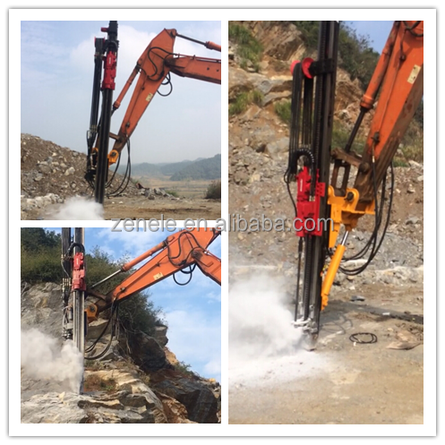 EXCAVATOR MOUNTED ROCK DRILLING ATTACHMENT ZL-Y90 excavator drilling rig