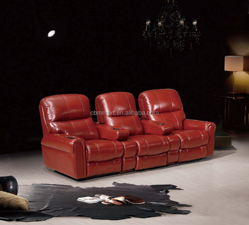 Leather Recliner Sofa 3 Seat