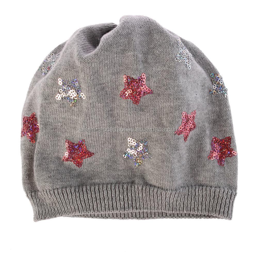 8f6bae1cf00 Baby Girls Boys Cotton Knit Head Warm Neff Beanie Charm Stars Winter Hat