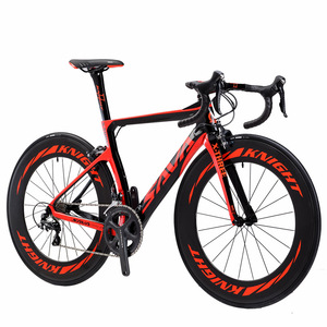 700C 22 Speeds Derailleur System and Double V Brake Carbon Fiber Road Bicycle Bike Frame Full Carbon Road