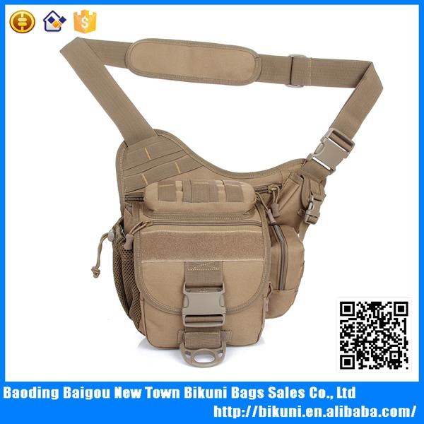 High quality durable outdoor cross body military army canvas saddle bag for men