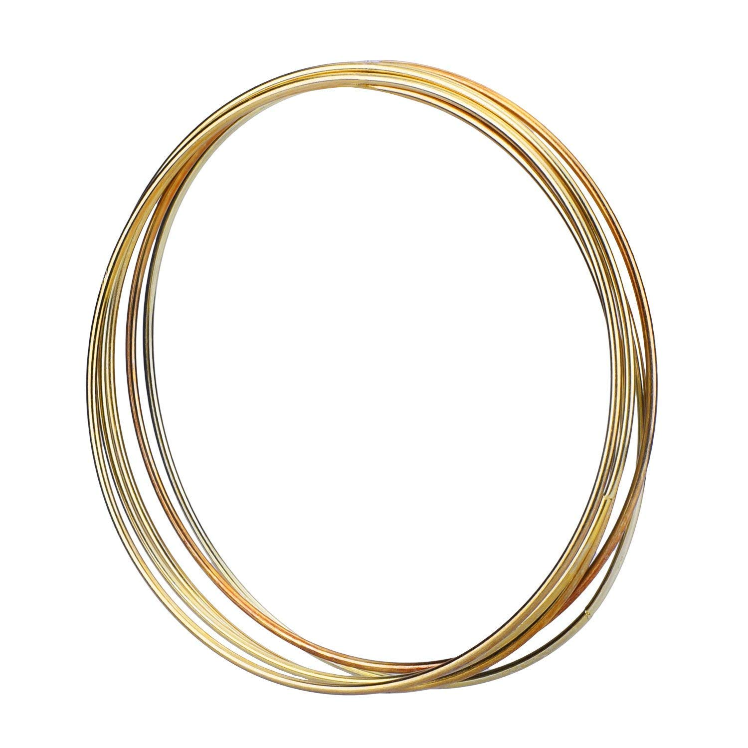 Erica 5 Pack Gold Metal Rings Hoops Macrame Rings for Dream Catcher and Crafts (6 inch)