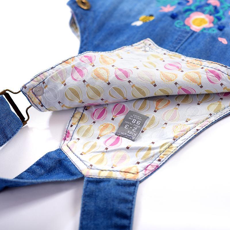 2018 pas cher enfants dessins de broderie pour le denim non extensible Malaisie Philippines costumes mumbai filles en jeans