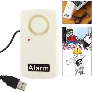Hot Selling Safety Protection USB Laptop Alarm USB Notebook Computer Burglar Alarm (RL-9802)(White)