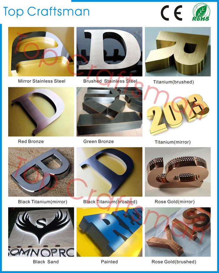 Advertising Double-sided light Customized 3d acrylic letter