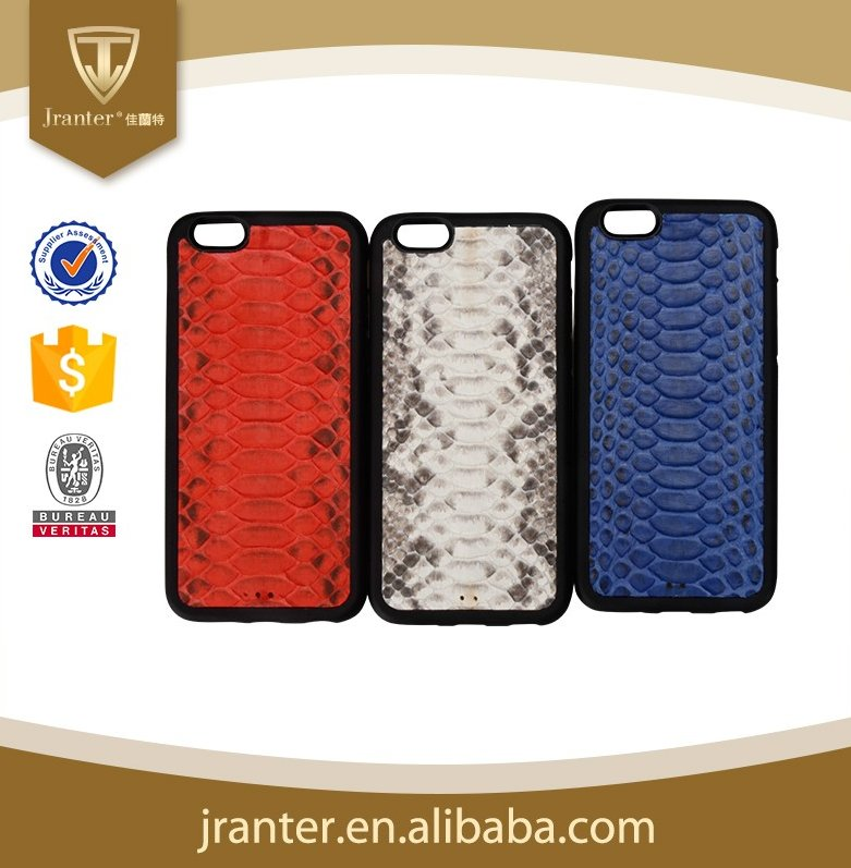 Python Snakeskin Leather Cell Phone Case for Iphone 6 plus / iphone 7 100% Real Python Skin Case For Iphone 6