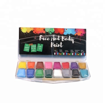 Non toxic body face paint  Carnival colorful  water based face painting kit for kids