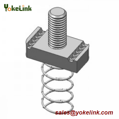 Hot sell Galvanized Stud Nut with Spring For solar Fastener M6,M8,M10,M12