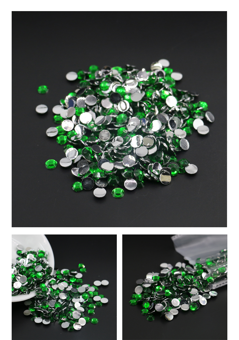 Factory Direct Sale Not Hot Fix Resin Rhinestone To Decorate Shoes, D033 Emerald