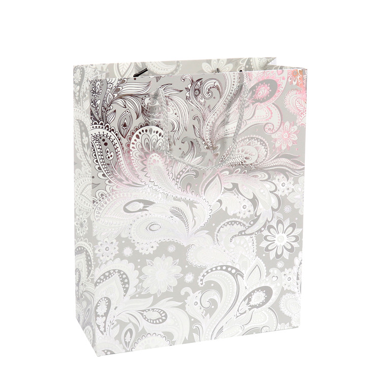 Fashion Recyclable Feature Customized Logo Gift Paper Bags With Handles, Fancy Jewelry Paper Bag