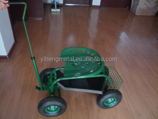 Garden Work Seat / Rolling Garden Seat Cart / Garden Seat With Wheels