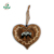 Professional factory custom decorative rustic distressed home decor printed animal & engraved wooden heart shape ornament decor