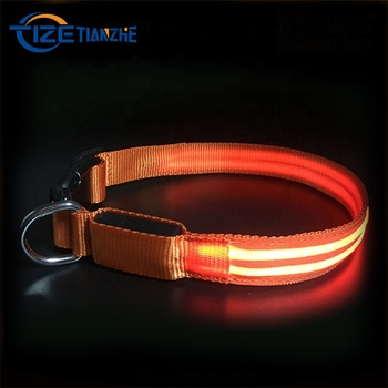 LED Lights Dog Pets Collars Adjustable Polyester Glow In Night Pet Dog Cat Puppy Safe Luminous Flashing Necklace Pet Supplies