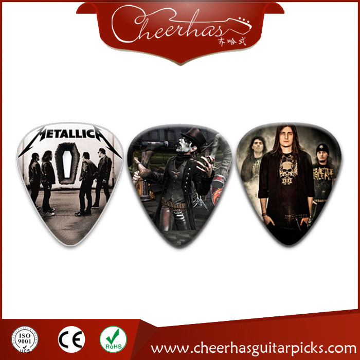 Wholesale China Made All Solid Colors Celluloid Promotional Guitar Picks/plectrum