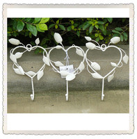 shabby chic indoor and outdoor wrought iron wall decor