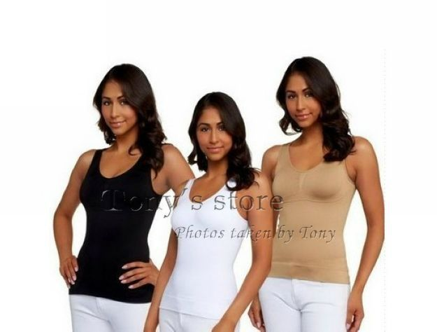 New Cami shaper by Genie with Removable Pads Look Thinner Instantly the Ultimate 3 in 1 Garment Underwear