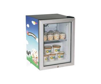 50l Mini Ice Cream Display Freezer Showcase Countertop
