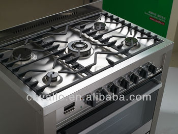 900mm 5 Burners Free Standing Gas Cooker Oven