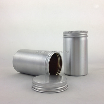Small Canister Metal With Lid