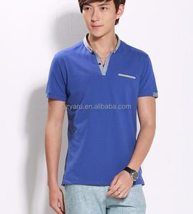 fashion cotton lycra cheap men long sleeve korean men printed t-shirt high neck t shirt for men