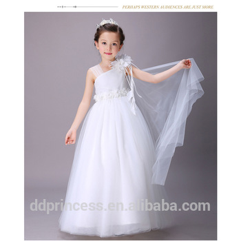 491cedb67b New Arrival Vietnam One-shoulder Wedding Dresses Baby Cotton Net Frocks  Design White Flower Girl's Long Party Dress Kid Clothing - Buy Sweet Child  ...