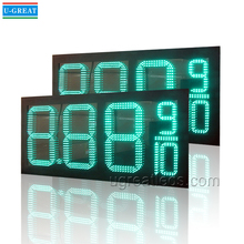 Hot Sale 12inch 8.88 9/10 Green Oil Station Wireless LED Number Display for Price Display