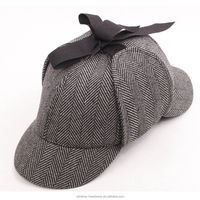 Fashion Design Vintage Wool Baseball Caps Hunting Hats with Ear Flaps