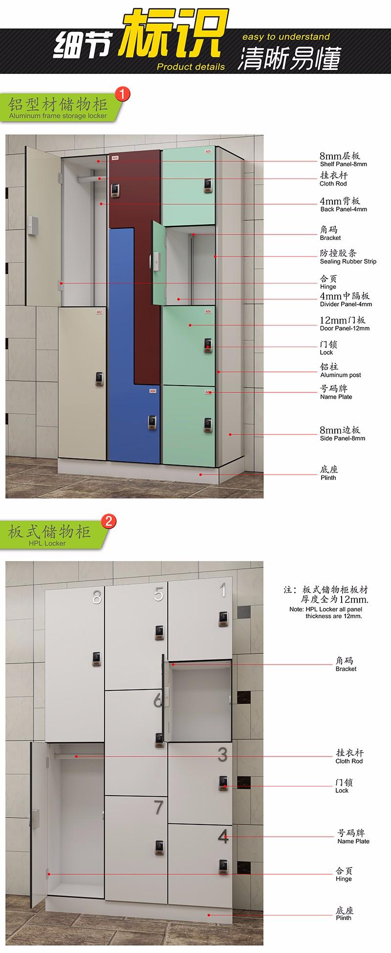 El diseño de moda oficina gabinete hpl guardarropas a la medida Venta al por mayor, la fabricación, la producción