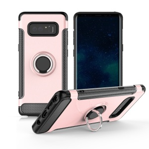 for For samsung note 8 3D new hard pc and tpu Cell Phone Case Cover and mobile Accessories with car mount kickstand phone ring