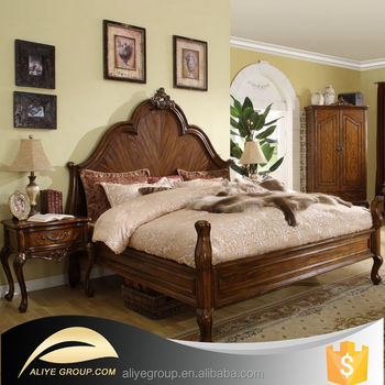 Noble House Royal Furniture Uae Carved Solid Wood King Beds 8009A  58K
