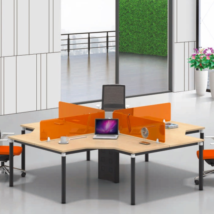 Newest design cheap six people workstation furniture,factory computer workstation furniture