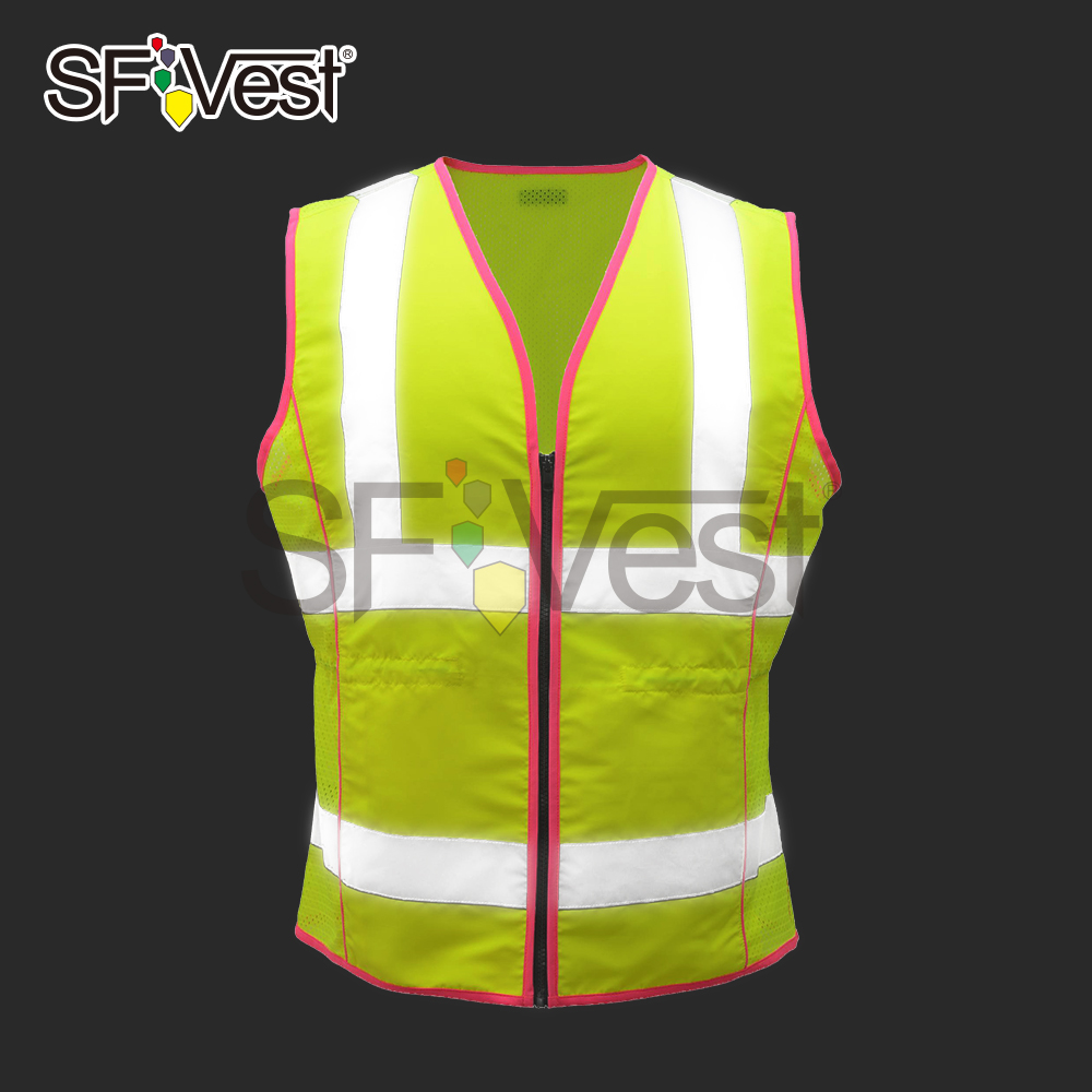 Safety fluorescent working ansi uniform designs for women working reflective vests