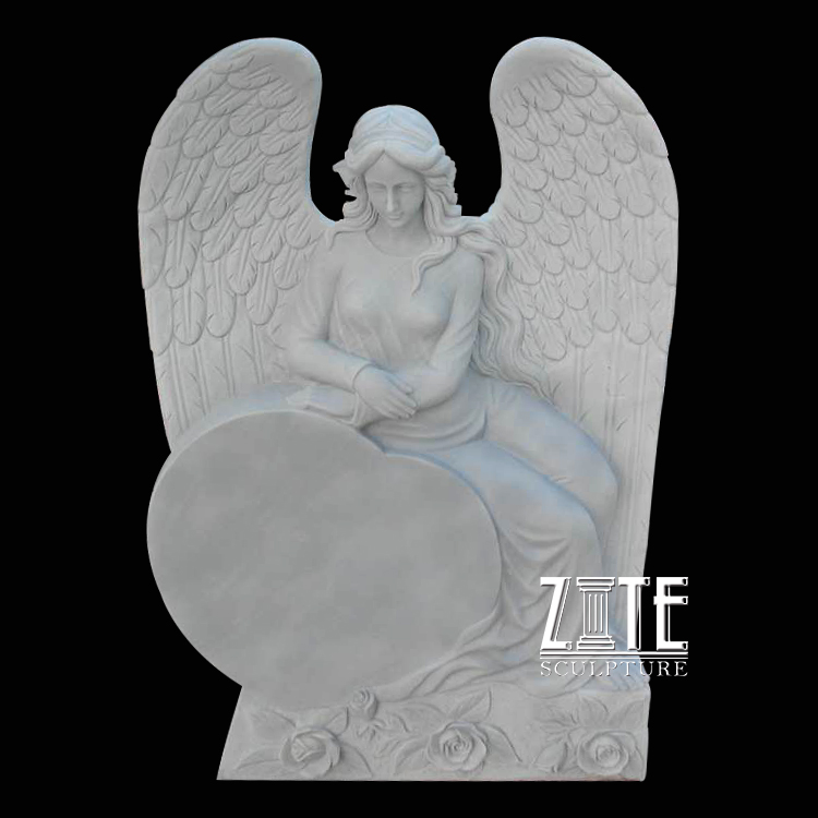 Modern stone headstone marble sleeping angel tombstone monument