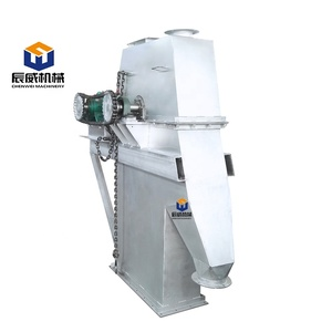 Z type chain bucket elevator for grains,chips,peanuts etc