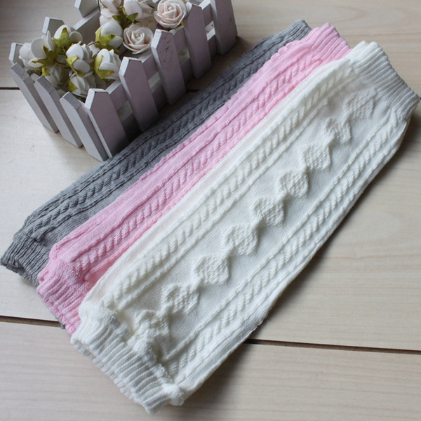 Wholesale fitness comfortable pure color new stylish cotton baby leg warmers for kids